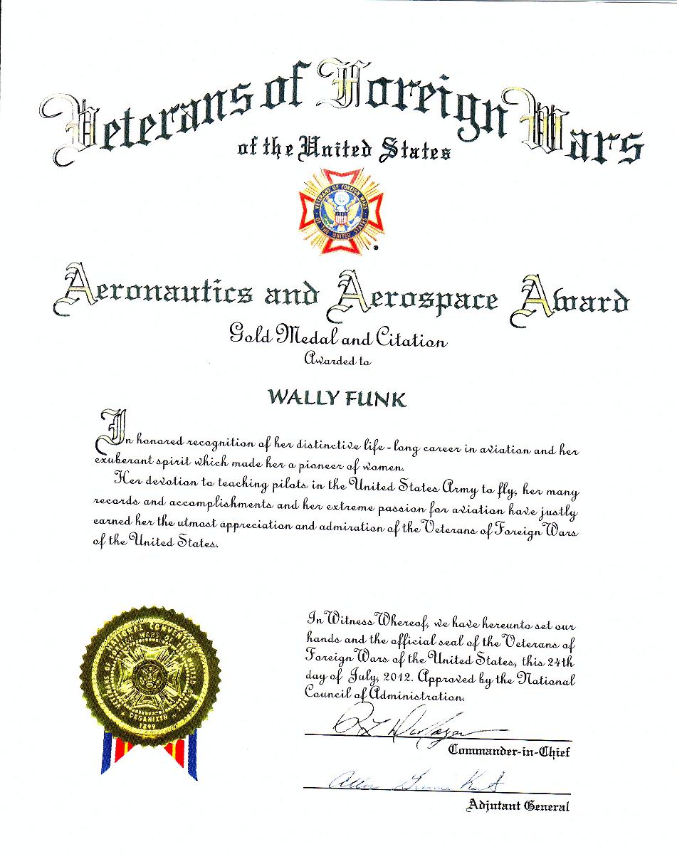 What we do women pilots today wally funk the ninety nines inc signed by commander in chief and adjutant general yadclub Image collections